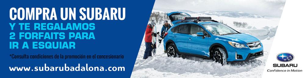 Forfait promoción Subaru nieve
